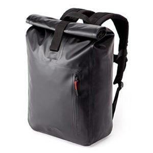 """A-Lab Model A Wasserdichter Fahrradrucksack Messenger Backpack Kurierrucksack aus Robuster LKW Plane (26l) mit Extra Hülle für 15"""" Laptop Tagesrucksack in Schwarz"""