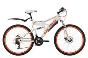 KS Cycling Fahrrad Mountainbike Fully 26 Zoll Bliss RH 47 cm, Weiß-Orange, 26, 533M