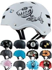 Skullcap® BMX Helm ☢ Skaterhelm ☢ Fahrradhelm ☢, Herren | Damen | Jungs & Kinderhelm, schwarz matt & glänzend (Robodog, M (54 - 56 cm))