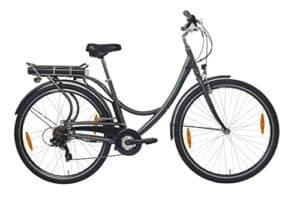 Teutoburg E-Bike, Elektrofahrrad mit HiTen Stahlrahmen in Anthrazit mit 6-Gang Shimano Kettenschaltung - Pedelec Citybike leicht, 250W & 8,8Ah/36V Lithium-Ionen-Akku, 28 Zoll, 282686